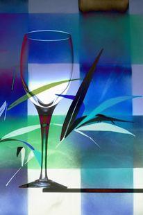 Rose, Dreieck farbig, Fest, Glas