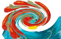 Rotstirnamazone, Digitale kunst, Abstrakt, Papagei