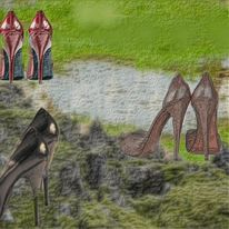 High heels, Pumps, Pfennigabsätze, Stöckeln