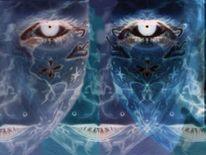Fan, Gesicht painting, Alien, Augen
