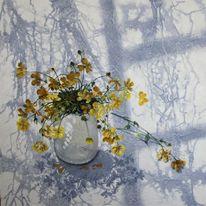 Acrylmalerei, Blumen, Blumenstrauß, Schatten