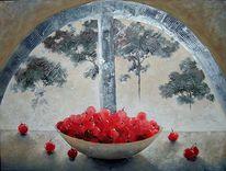 Baum, Schatten, Acrylmalerei, Kirsche