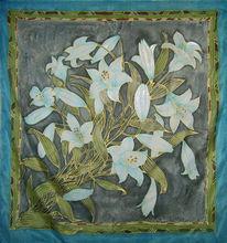 Tuch, Malerei, Seidenmalerei, Lilien