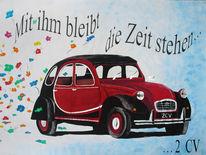 Auto, Bunt, Tuschkasten, Malerei