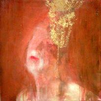 Selektion, Kopfschmuck, Rot, Gold