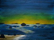Stimmung, Meer, Abend, Malerei