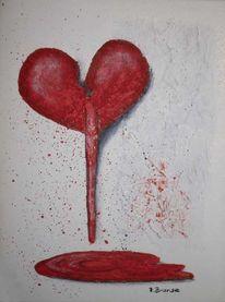 Schmerz, Herz, Acrylmalerei, Malerei