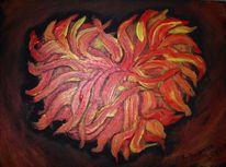 Feuer, Flammen, Malerei