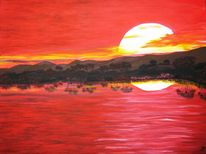 Abendrot, Malerei, Sonnenuntergang