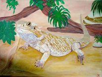 Bartdagame, Malerei, Tiere