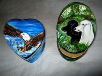 Hund, Weißkopfseeadler, Malerei