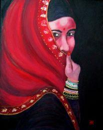 Indien, Inderin, Frau, Malerei