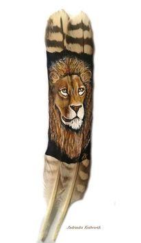 Löwe, Feder, Tiere, Malerei