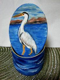 Reiher, Malerei