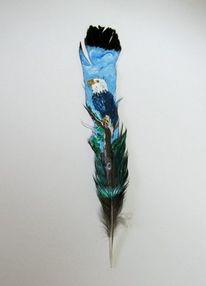 Feder, Weißkopfseeadler, Malerei, Tiere