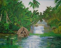Natur, Wasser, Palmen, Landschaft