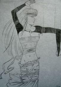 Manga, Marionette, Zeichnungen