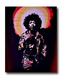 Hendrix, Pop art, Aquarellmalerei, Gemälde