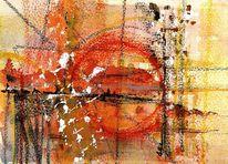 Warm, Orang, Rot, Abstrakt