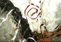 Ocker, Schwarz weiß, Abstrakte kunst, Dekoration