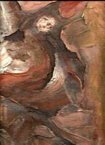 Skulptur, Acrylmalerei, Ocker, Gediegen