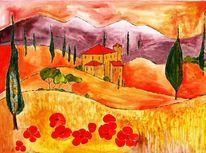 Warm, Zeitgenössisch, Toskana, Glühend