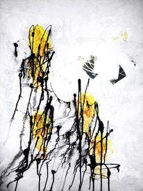 Kontrast, Malerei, Modern, Gelb