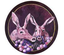 Tier violett, Schmuck, Schwein, Diebe