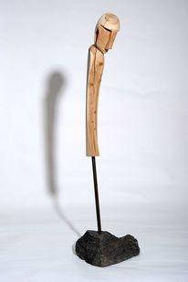 Abstrakte kunst, Holzskulptur, Plastiken, Holz