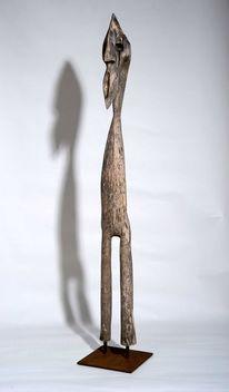 Skulptur, Holz, Gartenskulptur, Abstrakt