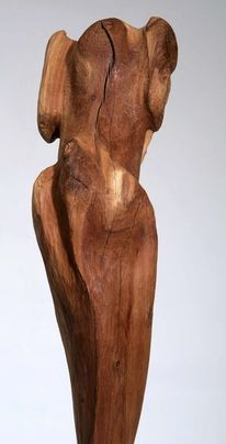 Plastiken, Abstrakte kunst, Holzskulptur, Holzbildhauerei