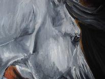 Pferde, Einhorn, Hengst, Malerei