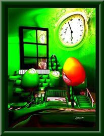 Zeitillusionen, Chromeffekt, Ei, Uhr