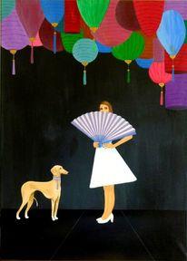 Windhung, Acrylmalerei, Mädchen, Fach