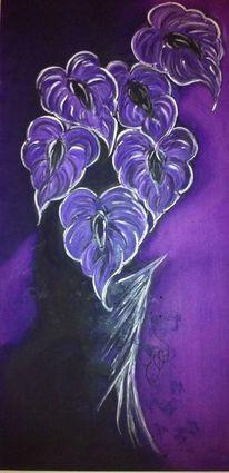 Violett, Stillleben, Cala, Vase