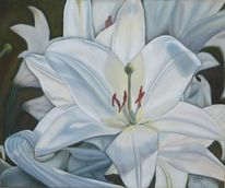 Lilie, Ölmalerei, Blumen, Natur
