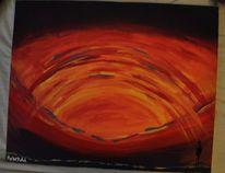 Sonne, Acrylmalerei, Malerei