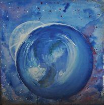 Universum, Welt, Aquarellmalerei, Erde