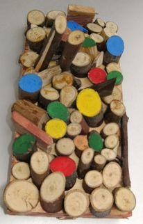 Holz, Objekt, Malerei