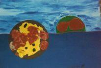 Acrylmalerei, Objektkunst, Malerei, Faden