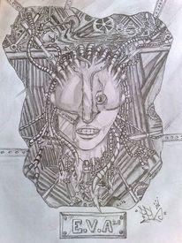 Zeichnungen, Bleistift malerei, Chaos