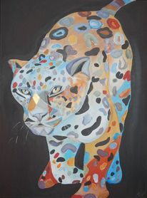 Panther, Bunt, Abstrakt, Tiere
