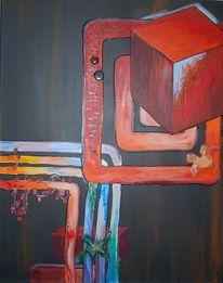 Rot schwarz, Keramik, Bunt, Malerei
