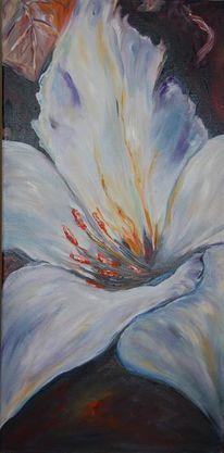 Blumen, Ölmalerei, Lilie, Malerei