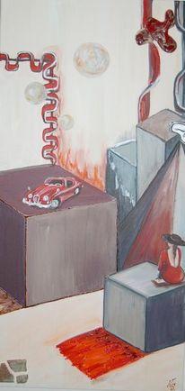 Rot, Person, Auto, Keramik