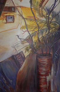 Palmen, Lila, Abstrakt, Braun