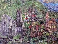 Schloss neuschwanstein, Mittelalter, Surreal, Märchenwelt