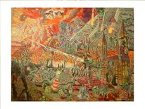 Ende, Kathedrale, Welt, Surreal