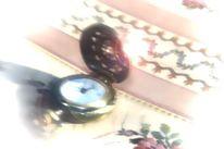 Rosa, Taschenuhr, Impressionismus, Uhr