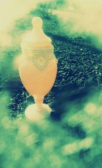 Wolken, Himmel, Blau, Vase